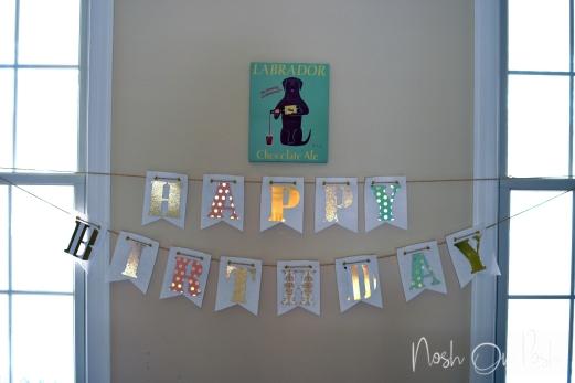 Happy Birthday Felt Banner
