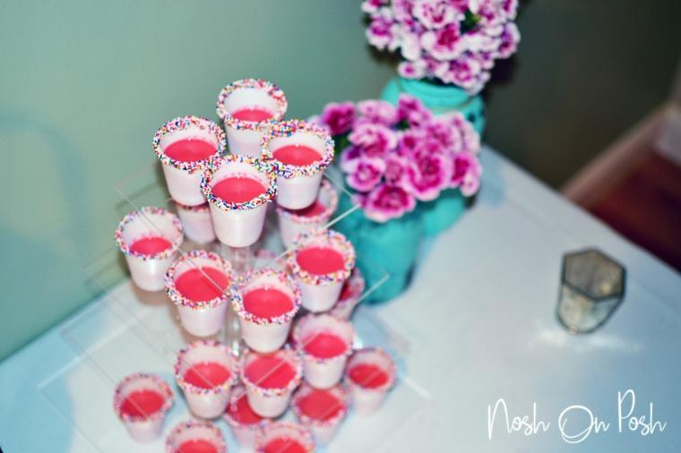 Pink Cake Shots